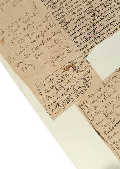 PROUST Marcel (1871-1922) Ensemble de lettres autographes signées, manuscrits, dessins...