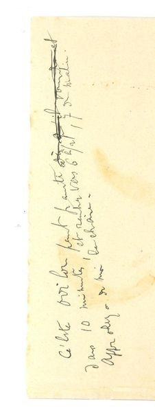 PROUST Marcel (1871-1922) Ticket of PROUST ill: his last lines, written a few hours...