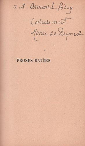 RÉGNIER HENRI DE (1864-1936)