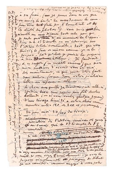ROUVEYRE ANDRÉ (1879-1962) Autograph letter signed to François LAYA. September 20,...