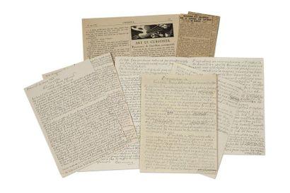 SCHMIED François-Louis (1873-1941) Correspondence of twenty-eight signed autograph...