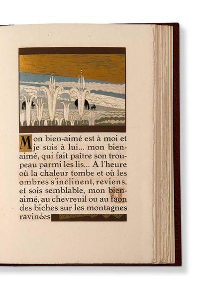SCHMIED François-Louis (1873-1941) Le Cantique des Cantiques, translation by Ernest...