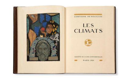 SCHMIED FRANÇOIS-LOUIS (1873-1941) - NOAILLES ANNA DE (1876-1933) Climates. Paris,...