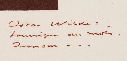 SCHMIED FRANÇOIS-LOUIS (1873-1941) - WILDE OSCAR (1854-1900) Two tales. Paris, F.-L....