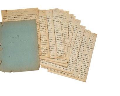 SOUPAULT Philippe (1897-1990) Découverte d'un monde, manuscrit autographe inédit....