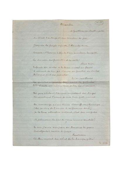 BRETON André (1896-1966) Mont de Piété, manuscrit autographe complet avec le premier...