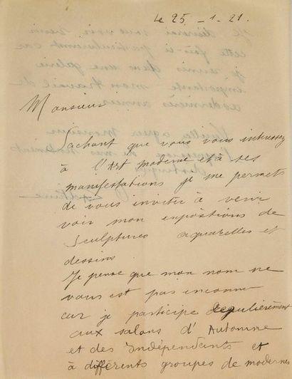 ZADKINE Ossip (1890-1967)