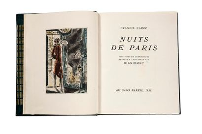 CARCO FRANCIS (1886-1958) Nuits de Paris, with twenty-six compositions engraved in...