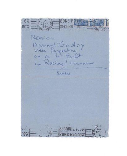 CENDRARS Blaise (1887-1961) Correspondance autographe signée adressée à Armand GODOY....
