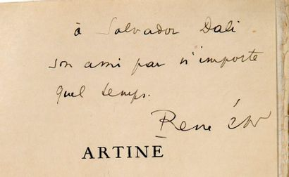 CHAR RENÉ (1907-1988) Artine, first edition illustrated with a frontispiece engraved...