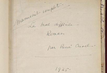 CREVEL RENÉ (1900-1935)