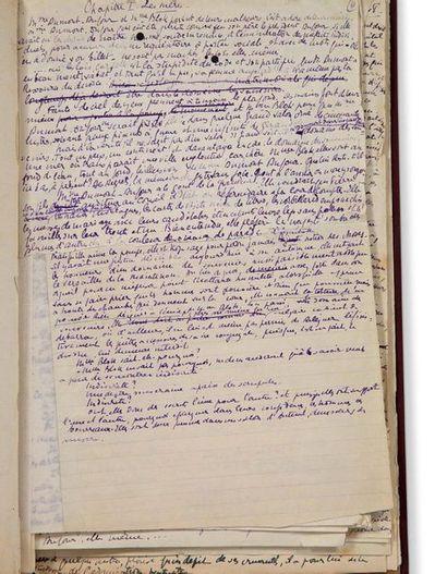 CREVEL RENÉ (1900-1935) La Mort Difficile, manuscrit autographe signé. «29 septembre...