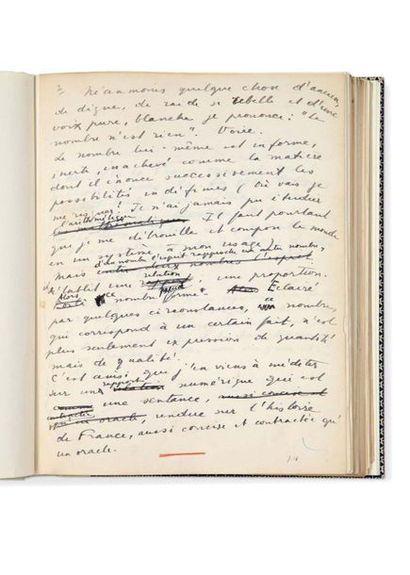DRIEU LA ROCHELLE PIERRE 1893-1945) Mesure de la France, autograph manuscript. 1922,...
