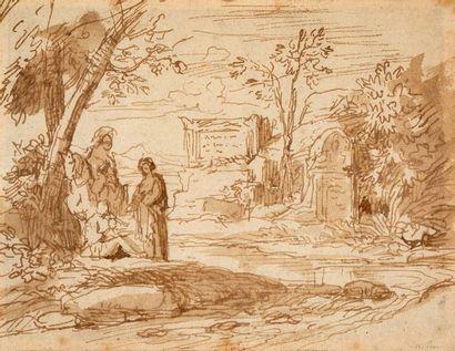 ECOLE FRANÇAISE DU XVIIe SIÈCLE, ENTOURAGE DE NICOLAS POUSSIN (LES ANDELYS, 1594 - ROME, 1665)