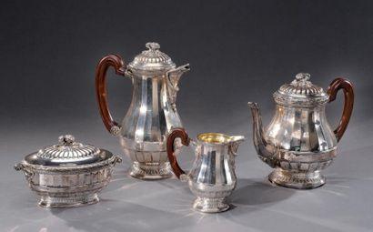 Service à thé et café en argent de style...