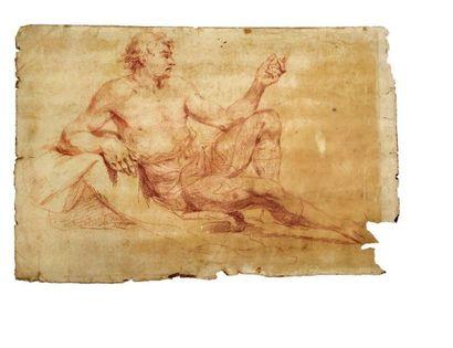 Entourage De Hyacinthe Rigaud (Perpignan, 1659 - Paris, 1743) Portrait of a man in...