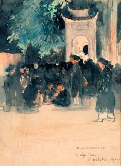 François Marie DE MARLIAVE (1874-1953)  Scène...