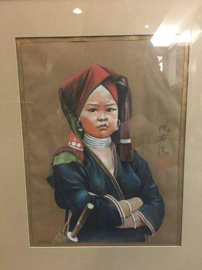 Nguyen Huu DUYET (XXe siècle)  Portrait de...