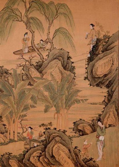 Chine, fin XIXe-début XXe siècle  Peinture...