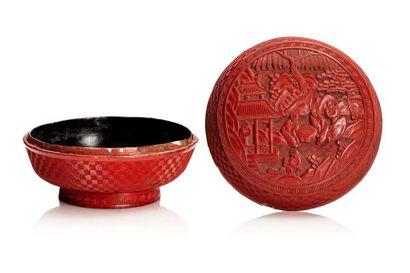 Chine, milieu XIXe siècle  Boîte circulaire...