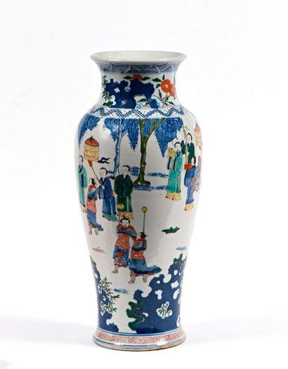 Chine, fin du XXe siècle  Vase balustre en...
