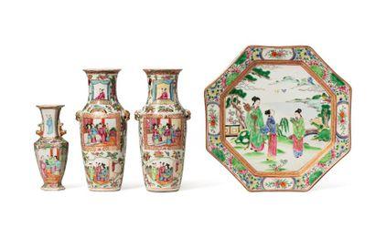 Chine, fin XIXe siècle  Ensemble de quatre...