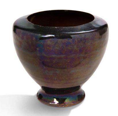 JAPON XIXe - DÉBUT XXe SIÈCLE Lot de quatre céramiques comprenant un bol de type...