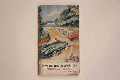 24 HEURES DU MANS 1954  Programme officiel, 148 pages  Etat d'usage    LOT A RETIRER...