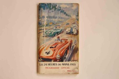 24 HEURES DU MANS 1955  Programme officiel,...