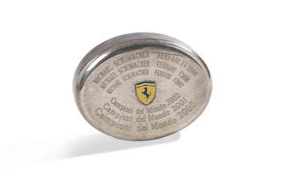 MICHAEL SCHUMACHER  Boîte Ferrari  Signée...