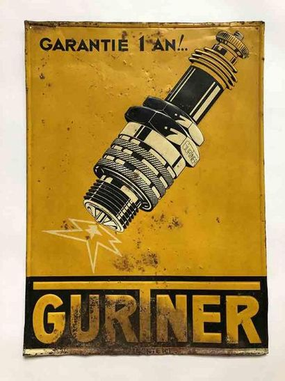 GURTNER  Tôle peinte en relief  R. Bindschelder...