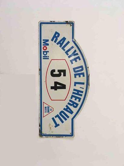 Rallye de l'Herault  Plaque de l'equipage...
