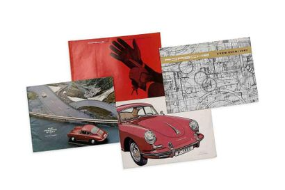 PORSCHE 356  Lot de 4 brochures commerciales : FR / EN  Bon état général Click here...