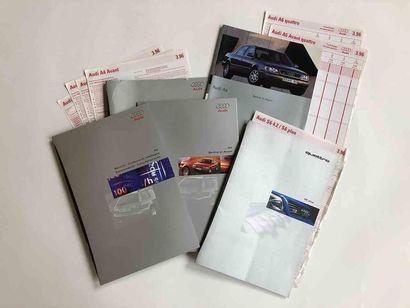 Lot catalogues Audi + VAG  Modèles : A4 B5...