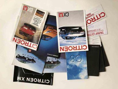 Lot catalogues Citroën  Modèles : CX / BX...