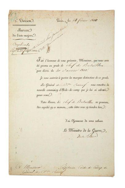PROMOTION, CHEF DE BATAILLON