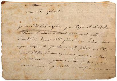 JEAN JOSEPH ANGE D'HAUTPOUL 1669-1807.GENERAL DE DIVISION DANS LA CAVALERIE, MORT À EYLAU