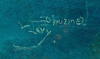 Lucien Levy-Dhurmer (1865-1953) Nu bleu Pastel sur papier, signé en bas à droite...