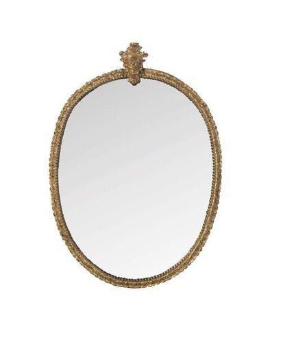 ARMAND-ALBERT RATEAU (1882-1938) Miroir Bronze, verre 35 x 25 cm. Circa 1930 Provenance:...