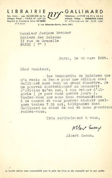CAMUS Albert (1913-1960)