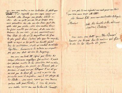 DELEUZE Joseph-Philippe-François (1743-1835)<br/>Médecin, promoteur du magnétisme