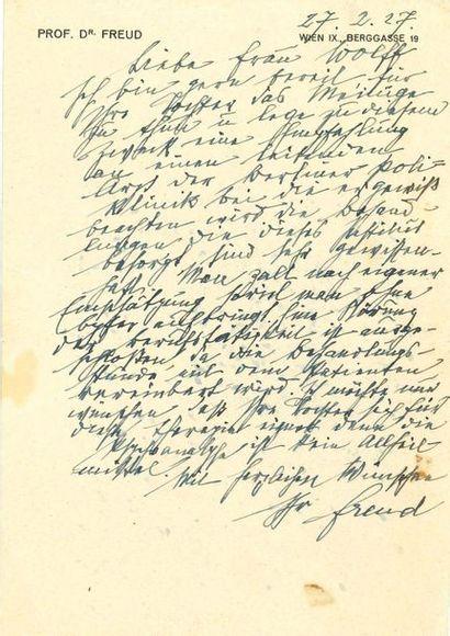 FREUD Sigmund (1856-1939)