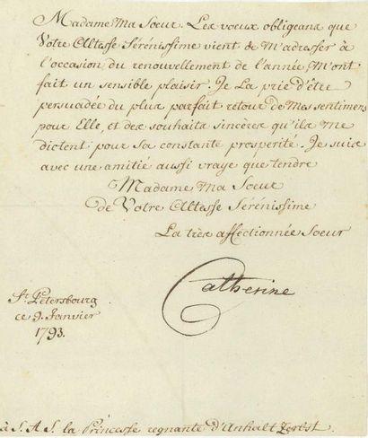 CATHERINE II (1729-1796)<br/>Impératrice de Russie