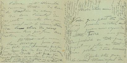 BOURDELLE Émile-Antoine (1861-1929) L.A.S. «Bourdelle» et «Émile Bourdelle» et une...