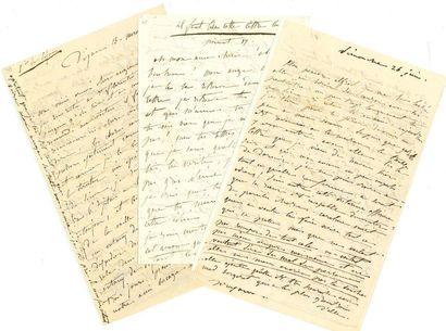 DORVAL Marie (1793-1849) 10 L.A. (dont 2 signées «Marie»), février 1834 et juin 1836,...