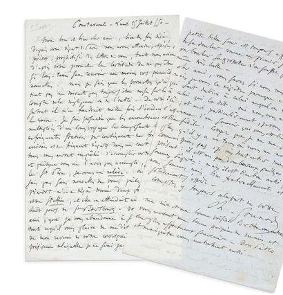 GOUNOD Charles (1818-1893) L.A.S. «Ch. Gounod», Courtavenel 15 juillet 1850, à Ivan...