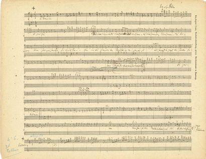 GOUNOD Charles (1818-1893) MANUSCRIT MUSICAL autographe pour Cinq- Mars, [1876 ?];...