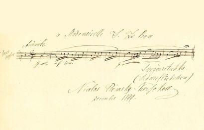 RIMSKI-KORSAKOV Nikolaï (1844-1908) P.A.S. MUSICALE «Nicolas Rimsky-Korsakow», décembre...