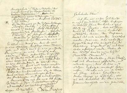 WAGNER RICHARD (1813-1883) L.A.S. «Richard Wagner», Luzern 23 mai 1870, à l'éditeur...