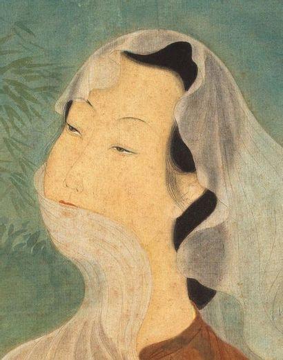 MAI trung THU (1906-1980) Le vent, 1945 Encre et couleurs sur soie, signée et datée...